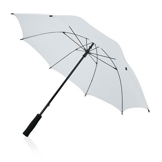 """23"""" odolný deštník ze sklolaminátu, bílá - bílá"""