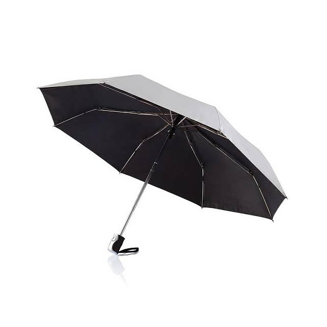 Deluxe skládací automatický deštník - silver