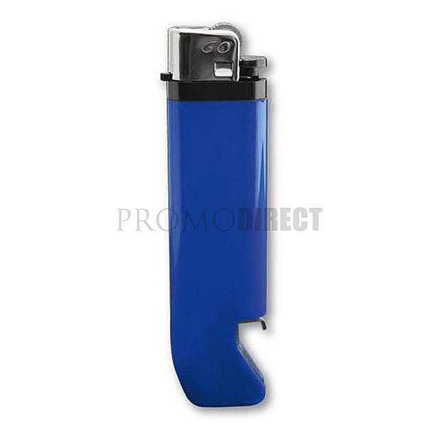 Feuerzeug mit Flaschenöffner - blau