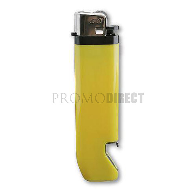 Lighter with bottle opener - yellow