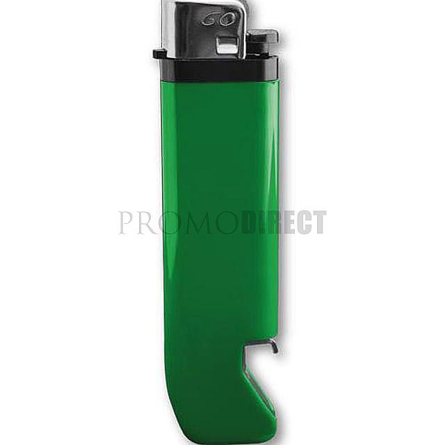 Feuerzeug mit Flaschenöffner - Grün