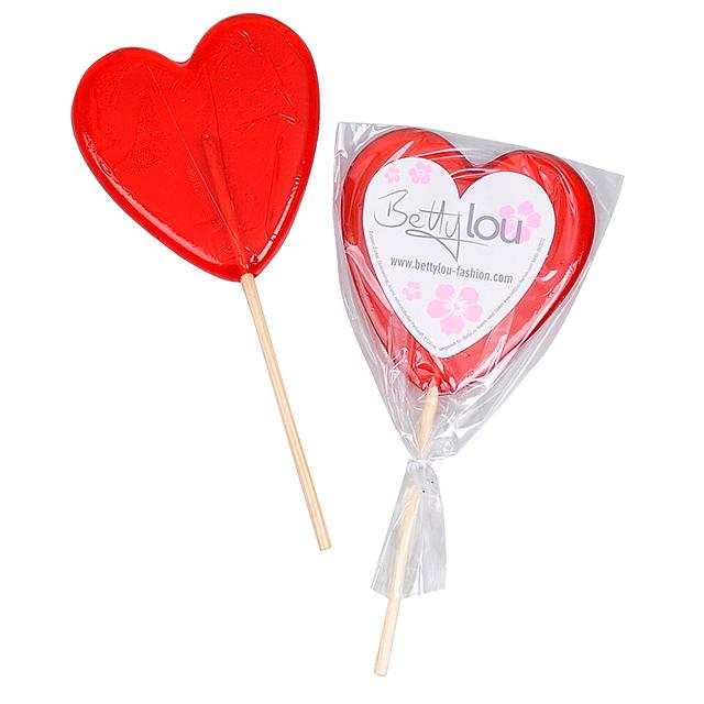 Lollipop with sticker -