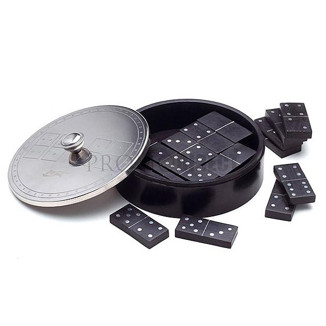 Domino Round - černá