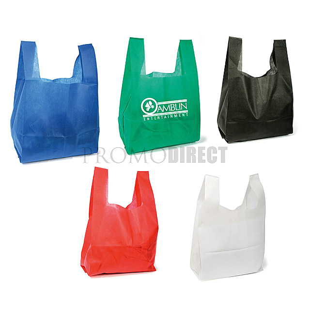 T-Shirt Non Woven Bag - black
