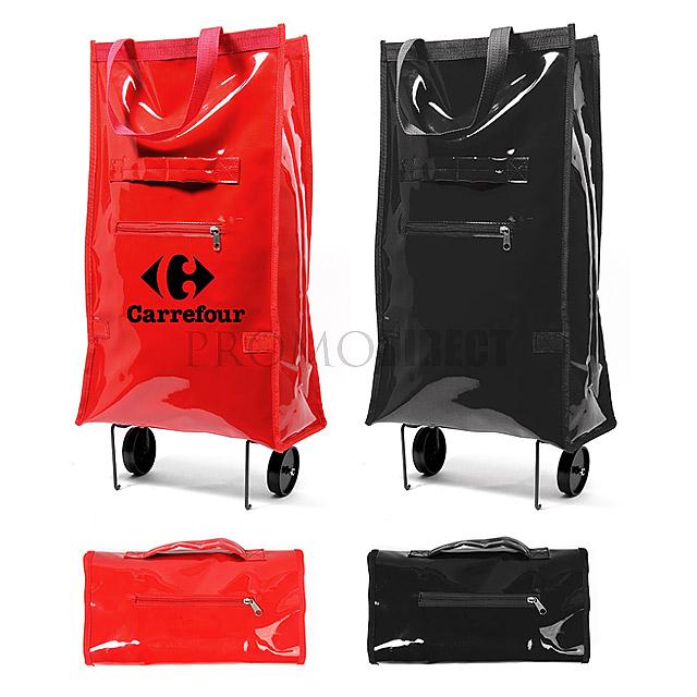 Folding Shinning Shopping Cart - black