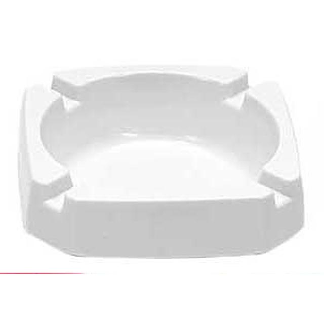 Werbung Aschenbecher Kunststoff - Weiß