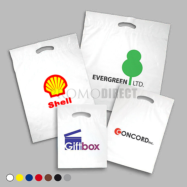 A plastic bag, 35x50 cm, 2 color printing - gold