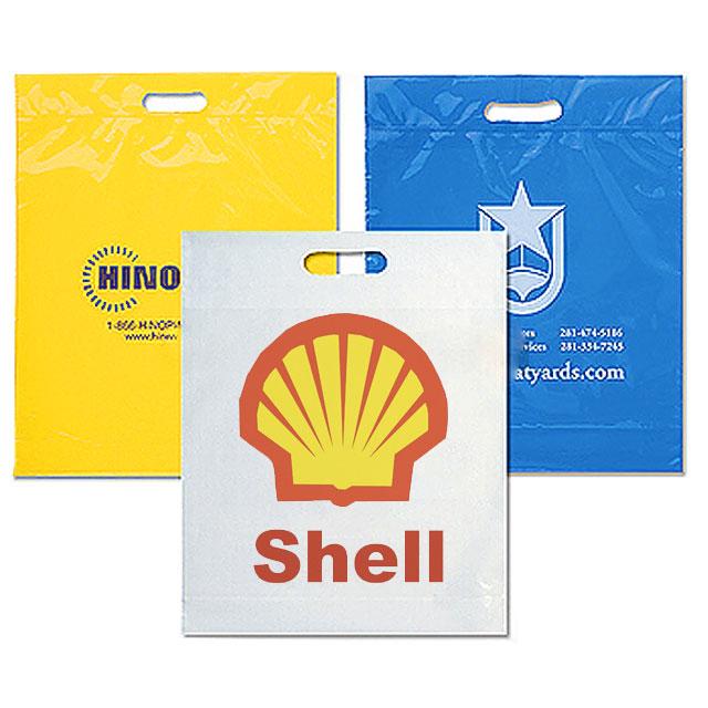 Igelitová taška, 30 x 40 cm, potlač 1 farba - zlatá