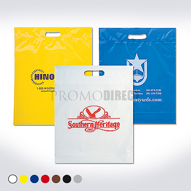 A plastic bag, 35x50 cm, printed 1 color - gold