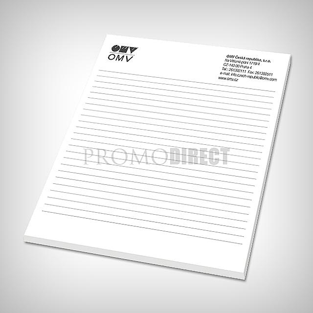 Block A5, 50 sheets, printed 1 color -