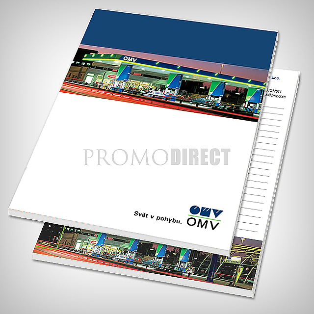 Block A5, 50 pages, full color envelope printing -