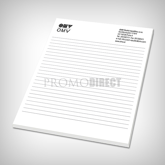 Block A4, 30 sheets, printed 1 color -