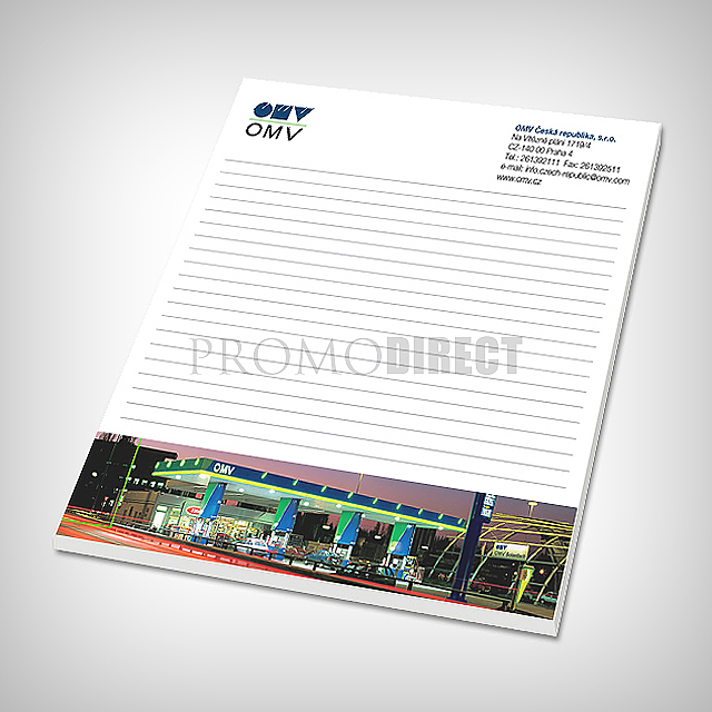 Block A4, 30 pages, full color printing -