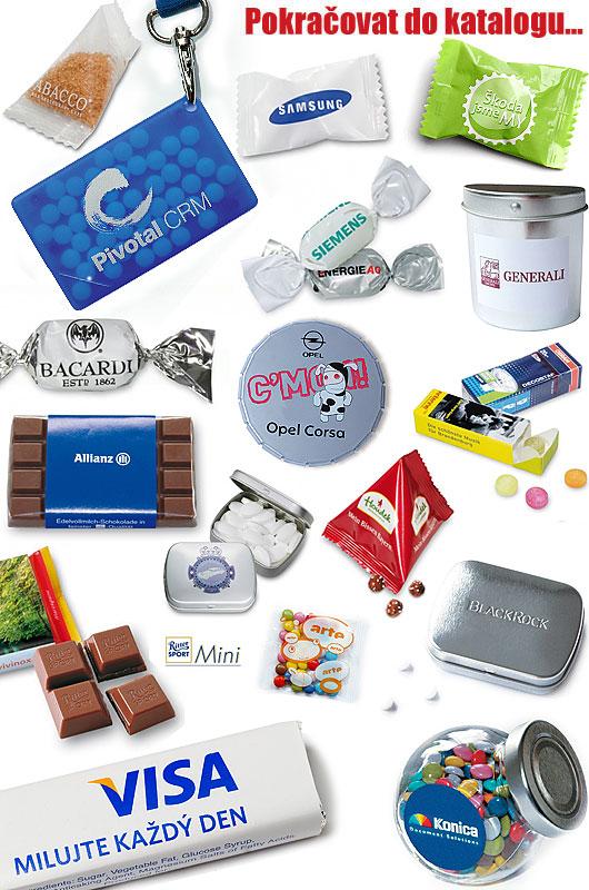 Bonbóny, sladkosti, čokolády, cukry