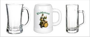 Reklamní pivní poháry a korbele