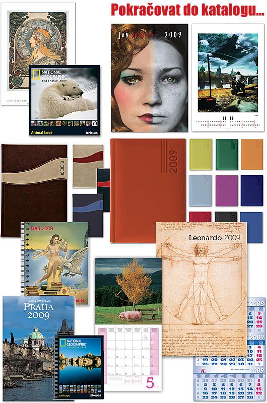 Kalendáře a diáře a organizéry