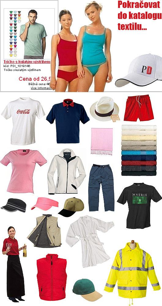 Trička a reklamní textil